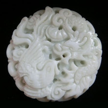 Special offer free shipping zodiac pendants carved Lan tian yu Dragon brand men and women couple models pendant stone(China)