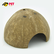 Aquarium Fish Hide Cave Coco Hut Eco Friendly Non-toxic Made of Real coconut Smooth Edges Comfortable Cute Hideout(China)