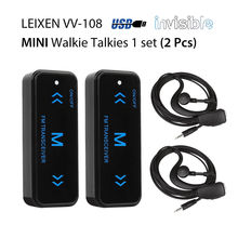 2pcs Leixen VV-108 Mini Portable Walkie Talkie Ham Two-Way Radio Transceiver UHF 400-480MHz with USB Power Supply Earpieces