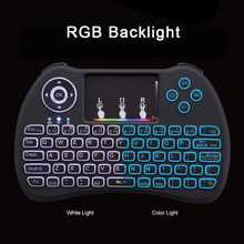 RGB Backlight Mini Keyboard 2.4G Wireless Mini Keyboard Mouse Touchpad Remote Control for HTPC Android TV Raspberry Pi 3