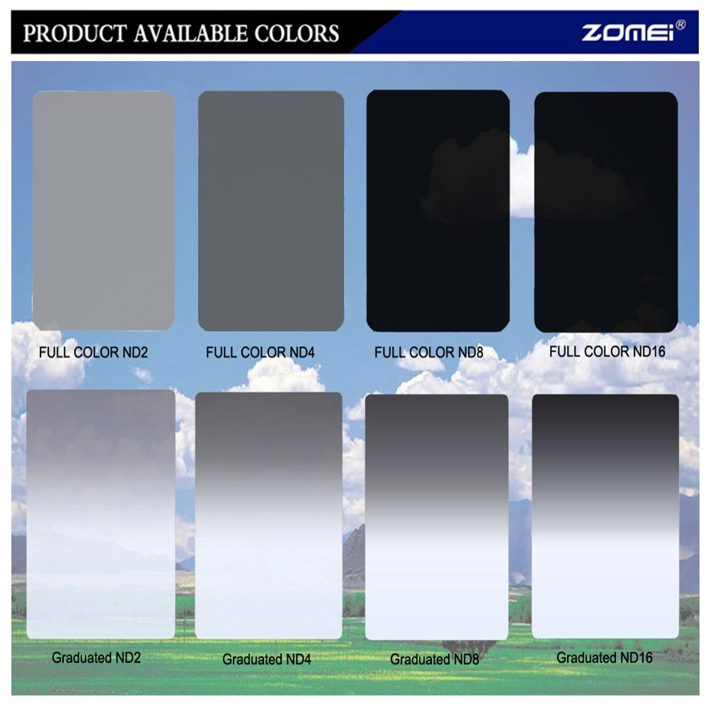 ZOMEI 150*100MM Square filter Graduated Neutral De...