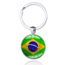 Car Styling 3D Auto Sport Metal Brazil Flag Car Key Ring Keychain For Chevrolet Volkswagen Renault Ford Fiat Toyota Hyundai(China)