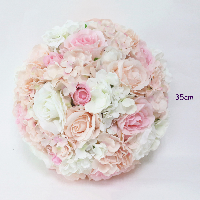 JAROWN Artificial Wedding Flower Ball Simulation Rose Hydrangea Flowers Hemisphere Roman Column Decor Home Party Decor Flores (5)