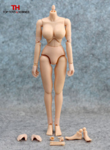 1/6 Female TTL CG Body Figures Large Breast Flexible Nude Body Action Figure Collectible Doll Toys For KUMIK Head Accessories