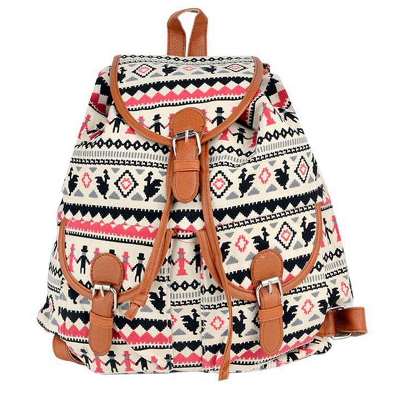 New Arrival Animal Printing Floral Backpacks for Girls BOHO Ethnic Pattern Rucksack Fashionable Jacquard Backpack Women L827<br><br>Aliexpress