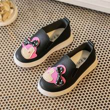 spring autumn cute girls children shoes casual brand 2017 cartoon single female baby footwear wholesale slip-on kids shoe
