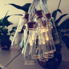 Creative Wishing bottle Jar LED String Lights for Birthday Party Suppliers, Church Wedding decoration,mini rope tree ornaments
