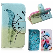 Butterfly Plum Flower PU Leather sFor Samsung Galaxy S4 mini case For Samsung S4 mini i9190 Wallet Style Flip Case With Stand