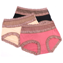 Buy 1PCS Women Sexy Lace Panties High Waist Lady Seamless Panty Briefs Underwear Lingerie Stealth Women Knickers Female Underpants