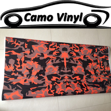 Car Styling Urban Camouflage Vinyl Wrap Black & Red Camo Film Sticker Air Bubble Free Auto Motorcycle Vehicle Wraps Covers