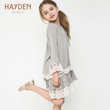 HAYDEN Bohemia teenage girls dress summer 7 9 11 years costumes spring children clothing kids clothes girls party frocks designs