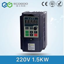Mini Size !220V 1.5KW Single Phase input 3 Phase Output Converter / Adjustable Speed Drive / Frequency Inverter / VFD(China)