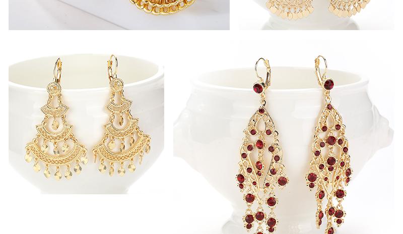CWEEL Drop Earrings Long Women Biohemian Big Gold Color Statement Earrings Tassel Wedding Fashion Jewelry Earring Party Gifts (2)