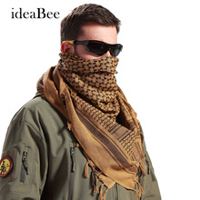 ideacherry 100% Cotton Thick Muslim Hijab Shemagh Tactical Desert Arabic Scarf Arab Scarves Men Winter Military Windproof Scarf(China)