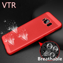 luxury breathable protection cover cases for samsung galaxy s8 case heat dissipation back shell For Galaxy S8 Plus phone bag