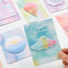 8 pcs/Lot Rainbow color sticky notes Fantastic memo pad Cloud Icecream Fruit sticker Stationery Office School supplies 6672