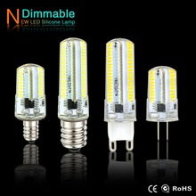 G4 LED Lamp G9 G8 Candle Light E14 E17 E11 E12 Corn Bulb AC220V 110V Spotlight SMD3014 64 / 152leds dimmer Lights for Chandelier
