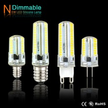 G4 LED Lamp G9 G8 Candle Light E14 E17 E11 E12 Corn Bulb AC220V 110V Spotlight SMD3014 64 / 152leds dimmer Lights for Chandelier()