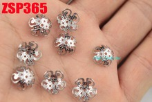 10mm stainless steel bead cap cinquefoil  fashion jewelry parts earring Components 300pcs ZSP365