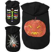 Dog Halloween Pumpkin Spider Teddy Bears Suits Cotton Hooded Sweater Autumn and Winter Soft Costume Outwear Coat Clothes(China)
