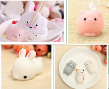 Kawaii Bunny Rabbit Pig Cloud Cat Squishy Squeeze Healing Stress Reliever Toy Gift Decor Slow Rising Healing Toys(China)