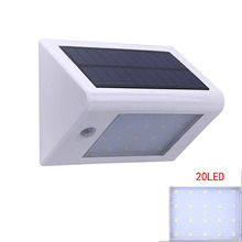 20 LED Bright Solar Powered Motion Sensor Light Outdoor Garden PatioPorch Wall Mount Gutter Fence Light Exterior Security Lamp