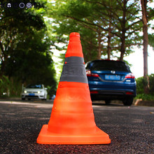 KODOOT Scalability Traffic Safety Cones Road Sign Reflective Orange Oxford Fabric PP Folding Road Cone Barricades