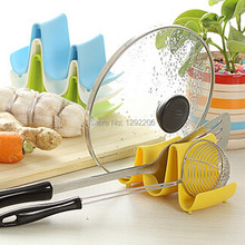 Useful 1PCS Plastic Kitchen Pot Pan Cover Lid Shell Stand Shelf Holder Rack Cooking Tool