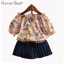 Buy Humor Bear Summer Baby Girls Clothes Children's Clothing Flowers T shirt + Bowknot Pants Suit Girls Clothing Set for $7.18 in AliExpress store