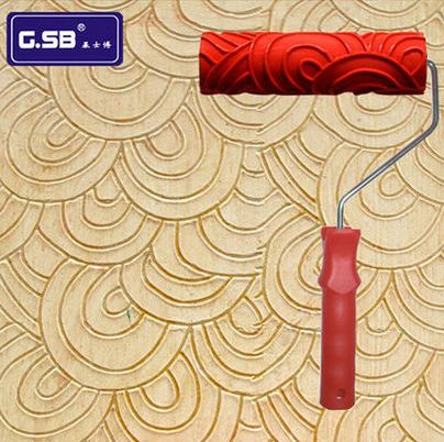 Free shipping 7 inch Pattern Rubber Roller for Wall Decoration Paint tools NO.054 model Reliefs paint roller wall decoration
