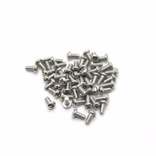 50Pcs/lot Screw M2*5 of Screws Nuts Assortment Bolts Screw Spike Round Head Screw 2mm Length 5mm High Quality CPC206(China)