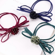 Fashion Women's Hair Bows Elastic Hair Bands For Women Cute Designers Pony Tail Holders Head Rope Hair Acceessories NS126
