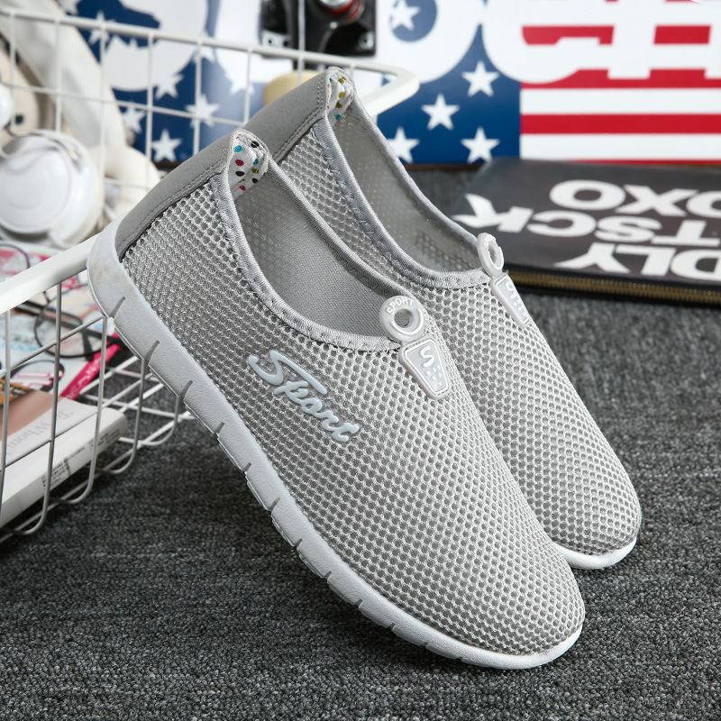 2017 New Summer Women Casual Shoes  Breathable Mesh Shoes Female Sport Shoes Outdoor Flats Slip-on Platform Shoe Size 35-40<br><br>Aliexpress