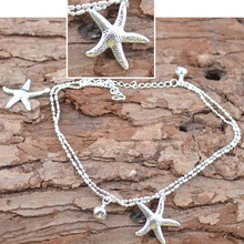 Sexy Women Starfish Ankle Chain Anklet Bracelet Foot Jewelry Sandal Beach Chain Girls Female Anklets