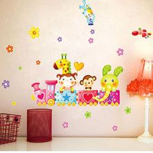 Small Train Wall Sticker Home Decor Bedroom Wall Decal for Kids Room Decal Baby House  Nursery Mural Poster DIY xy3005