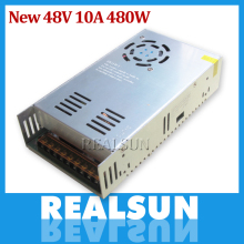 New 48V 10A 480W Switching Power Supply Driver Switching For LED Strip Light Display 110V/220V free shipping