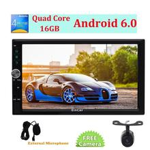 "HD 7"" Android 6.0 Car gps Radio Double Din Stereo in Dash Quad-Core GPS Sat Navi Head Unit Support Wifi 4G Autoradio RDS/SD/USB(China)"