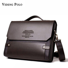 VIDENG POLO Fashion Rivet Leather Messenger Bags For Men Already Set Bag Business Men Briefcase Bag Hard Brand Leather Briefcase