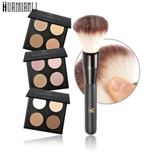 Love Beauty Female  Huamianli 4 Color Matte Eye Shadow Powder For Beauty Makeup+1 Brush 170314 Drop Shipping