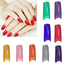 New arrival! 100Pcs French Half False Fake Acrylic Artificial Nail Art Tips Manicures Tool(China)