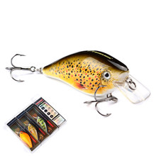 Great Discount!Retail fishing lures,assorted colors quality Minnow 127mm 7.6g,Tungsten ball bearking 2017 model crank bait lure
