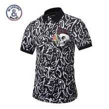 Mr.BaoLong Summer Brand Clothing New Men Short Sleeve Breathable Polo Shirt Male Business Flower Skull Printed Polo Shirts(China)