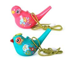 Color Drawing Water Bird Whistle Bath time Musical Toy for Kid Early Learning Educational Children Gift Toy Musical Instrument(China)