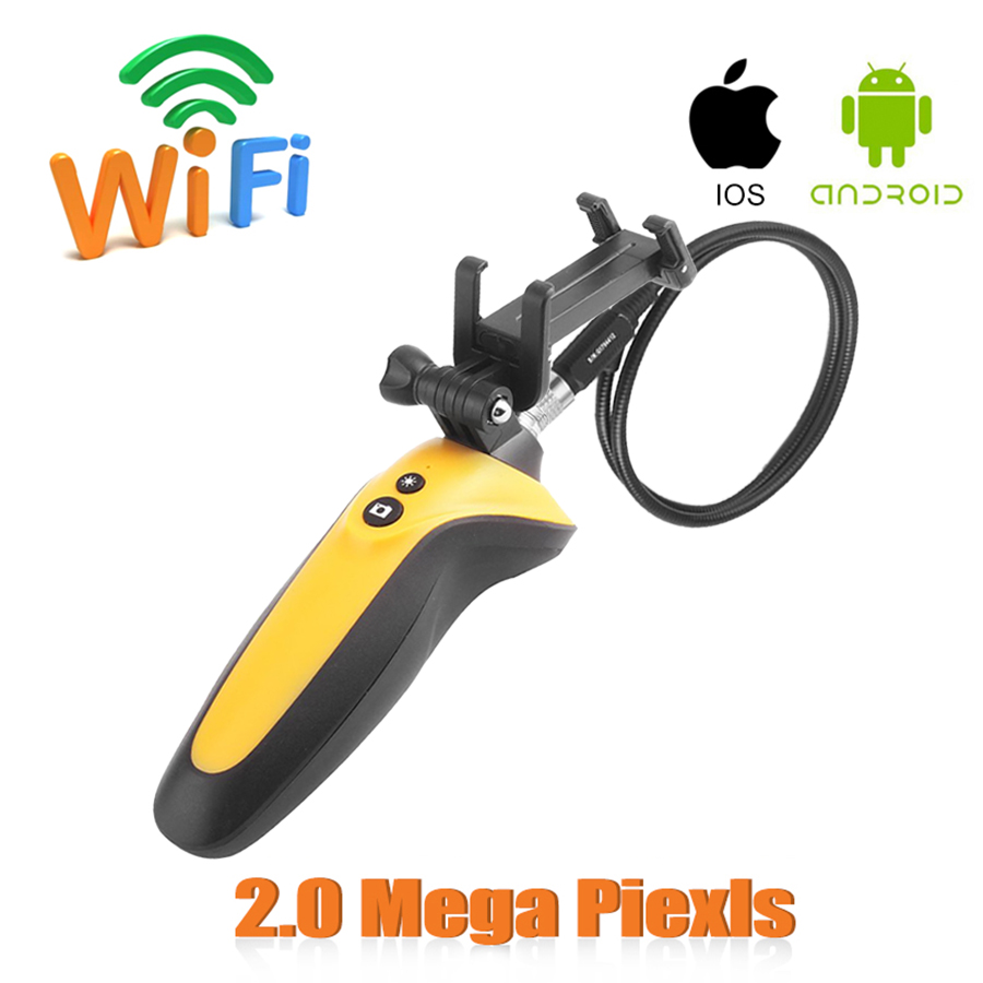 Handheld 1m 720P Waterproof IP67 Industrial Video USB Endoscope HT-668 2.4GHz Wifi Endoscope 2.0 Mega Pixels Camera Not battery<br>
