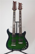 TOP QUALIRY New arrival Double neck guitar with silver hardware  Free shipping