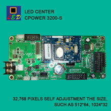 LED CENTER CPOWER 3200 COM PORT SEND DATA CONTROL CARD LED SIGNS BOARD lumen single Monochrome double color controller(China)