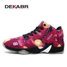 DEKABR Men Basketball Shoes Air Damping Men Anti-Skid Sports High Top Basketball Sport Sneakers Breathable Men Outdoor Shoes(China)
