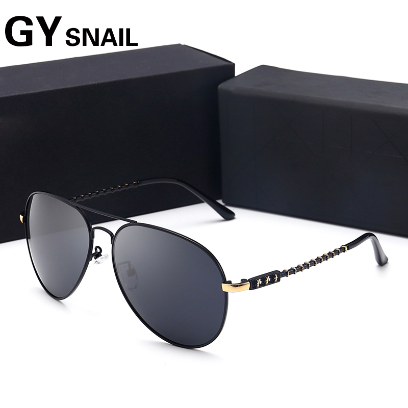 GY snail  Classic Sunglasses men Brand Designer Mirror Lens Men Sun Glasses for women Protection Pilot Sunglasses Night vision