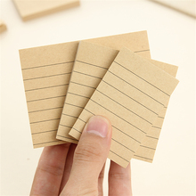 Cute Kawaii Kraft Paper Memo Pad Square Lined Paper Post It Note Sticky Paper For Kids Gift School Supplies Free Shipping 290