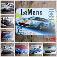 fashion 20*30cm LeMans 24h race sport car classic auto Tin Sign outdoor Wall Art decoration Bar Metal Paintings(China)